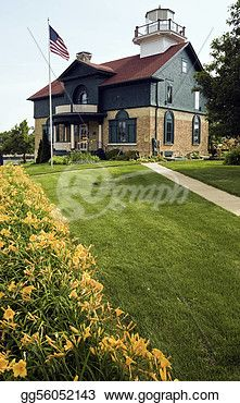 """""""Lighthouse in Michigan City"""" -Indiana Stock Photo from gograph.com"""