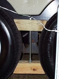 Travel Trailer Modifications :: Home made Wheel Locks image by - Photobucket Travel Trailer Living, Travel Trailer Camping, Rv Camping, Glamping, Camping Foods, Winter Camping, Camping Stuff, Camping Checklist, Rv Travel