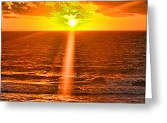 Morning Breaking Greeting Card by Flamingo Graphix John Ellis