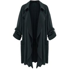 Chartou Women's Asymmetric Oversized Open-Front Lightweight Duster... ($28) ❤ liked on Polyvore featuring tops, cardigans, oversized open front cardigan, blue cardigan, cardigan top, lightweight cardigan and lightweight open front cardigan