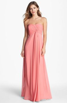 #Brautjungfern #Bridemaids | Donna Morgan 'Lisa' Strapless Front Draped Gown available at #Nordstrom