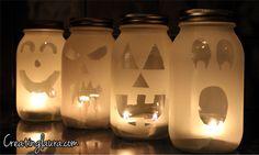 Creating Laura: Mason Jar Jack-O'-Lanterns