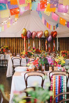 color filled receptions - photo by Lara Hotz http://ruffledblog.com/australian-polo-club-wedding