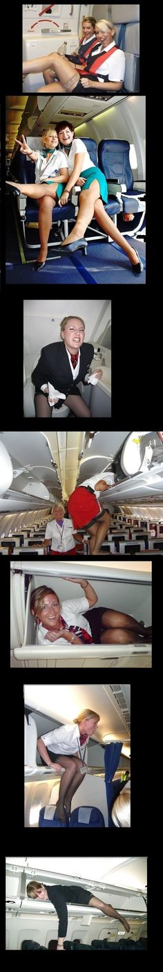 What flight attendants do when they aren't working - Win Picture | Webfail - Fail Pictures and Fail Videos