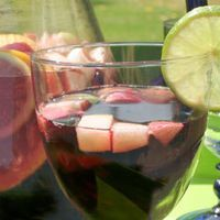 Skinnygirl Sangria with fresh fruit. One of my favorites to make!
