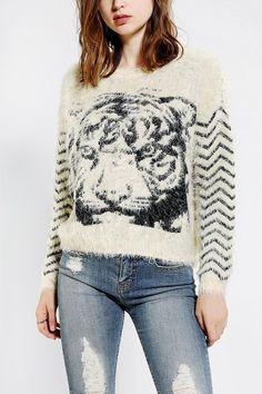 byCORPUS Furry Tiger Sweater f575f64dd