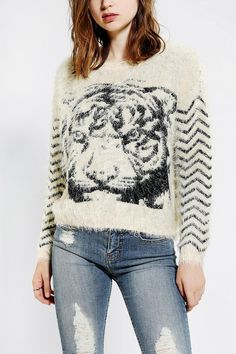 byCORPUS Furry Tiger Sweater