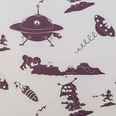 The Final Frontier, fabulous spaceship and alien wallpaper from PaperBoy