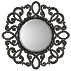 Paragon Round Silver  Black Traditional Wall Mirror 8758 -- This is an Amazon Affiliate link. Details can be found by clicking on the image.