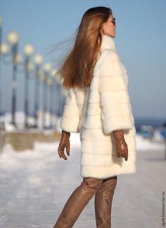 cream mink fur coat
