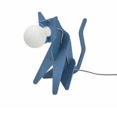 Lampe Get Out Cat Bleu - ENOstudio