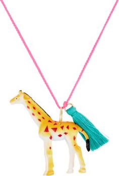 Gunner & Lux Jim The Giraffe Charm Necklace at Barneys New York