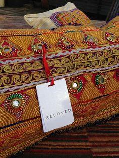 Exquisite Vintage Wedding Dress Cushion – Reloved #afghan #weddingdresscushions #handmade