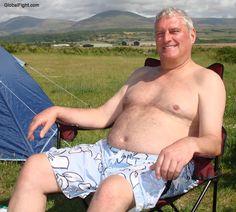 beefy daddies shirtless lounging resort