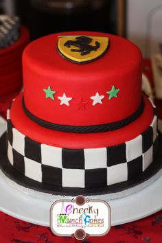 Ferrari Cake-- he would love this for liam