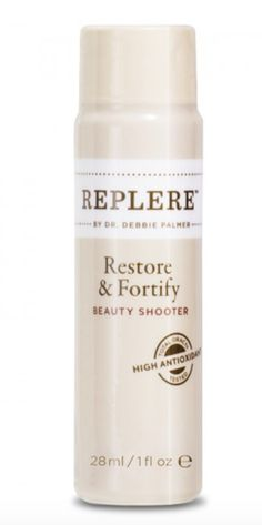 Finding it hard to get all your fruits, veggies & antioxidants in by the end of every day? Replere Restore & Fortify Beauty Shooters contain a powerful concentration of all-natural reparative #antioxidants—in a small one-ounce bottle you can take on the go.