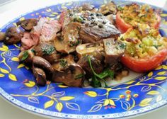 Dinner with Julia: Mastering the Art of French Cooking |  2 tablespons mixed or white peppercorns, 2 to 2 1/2 lbs. steak, salt, 1 tablespoon butter, 2 tablespoons shallots or green onions, 1/2 cup stock, 1/3 cup cognac, 3-4 tablespoons softened butter