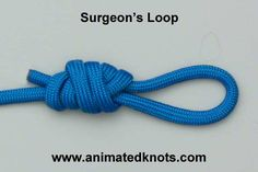 Surgeons loop knot t Surgeons loop knot tutorial. To hang the lanterns! Fishing Knots, Fishing Tips, Animated Knots, Loop Knot, Overhand Knot, Diy Clothes Rack, Paracord Knots, Paracord Projects, Beads And Wire