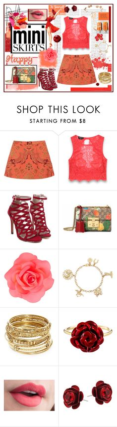 """""""make it all go"""" by jennross76 ❤ liked on Polyvore featuring Oris, JEM, Alice + Olivia, Bebe, Gucci, Accessorize, ABS by Allen Schwartz, Alison Lou, Eugenia Kim and MINISKIRT"""
