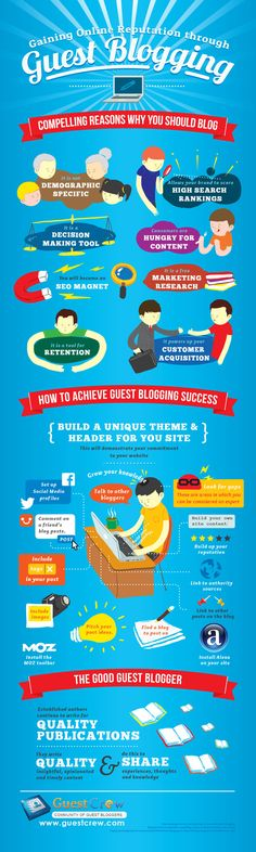 Increase Your Online Influence Through Guest Blogging #infographic