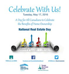 National Real Estate Day – Tues. May 17, 2016 – Benefits of Home Ownership