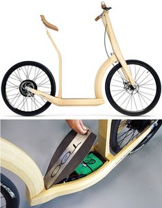 Electric scooter made from bamboo!