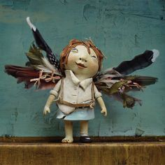 """She made her own wings and flew against the wind. She looked like hell when she arrived, but it was one amazing ride."" See Kina Crow's Liddle Kiddles inside the winter issue of Art Doll Quarterly."