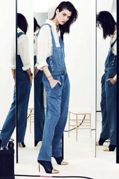 Balmain | Resort 2014 Collection | Style.com The only overalls I would ever consider rocking again in my lifetime.