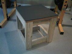 homemade box stand
