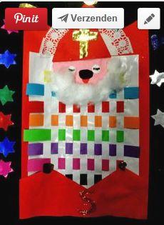 Sinterklaas in bed. Deken vlechten via Juf Ria groep 1 en 2 :: jufria.yurls.net