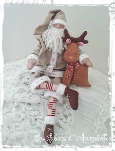 Décoration Père Noël inspiration Tilda esprit shabby