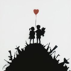 Banksy's popularity at auction remains undiminished, as proven at Bonhams' sale of Urban Art on April The auction saw four works by the renowned graffiti artist top the bill. Banksy Graffiti, Arte Banksy, Banksy Artwork, Banksy Canvas, Street Art Banksy, Bansky, Banksy Paintings, Urbane Kunst, Illustration Art