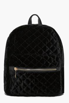 boohoo Phoebe Quilted Velvet Backpack