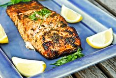 [HERBED SALMON] :: Lemon juice, lemon zest, dill, tarragon, soy sauce, honey, olive oil & salmon.