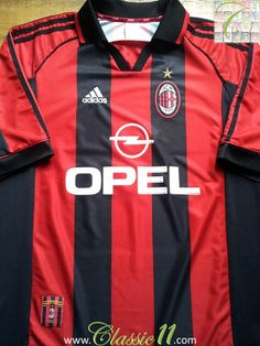 Relive AC Milan's 1998/1999 season with this vintage Adidas home football shirt.