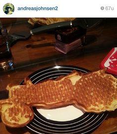 Awsome tractor waffles :)