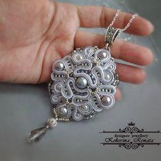 Soutache Pendant, Pandora Charms, Charmed, Pendants, Collar, Bracelets, Silver, Jewelry, Fashion