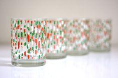 mid century holiday glasses {george briard}