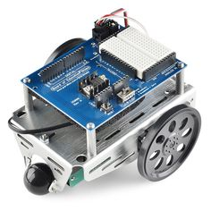 Robotics Shield Kit for Arduino -Make your Arduino the onboard brain of a mobile robot and learn robotics, electronics, and programming with this versatile kit and its accompanying step-by-step lessons. The Board of Education Shield plugs into your own Arduino (not included) and mounts on the popular Boe-Bot robot chassis. This kit includes everything you need (except for an Arduino) to get started learning about robotics!
