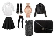 """""""rock uniforme"""" by mriechou ❤ liked on Polyvore featuring Barbara Bui, Commando, FOSSIL, Victoria's Secret and Chanel"""