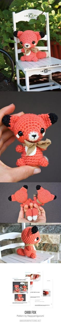 Chibi Fox Amigurumi Pattern