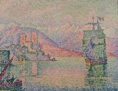 Antibes, Soirée, huile sur toile de Paul Signac (1863-1935, France)