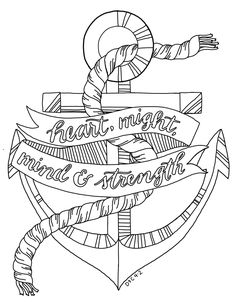 just what i {squeeze} in: Heart, Might, Mind & Strength -- Coloring Page #14
