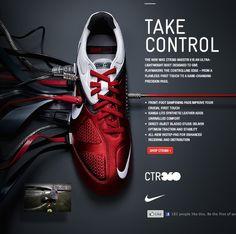 "Nike Print Ad ""Take Control"". Creative Advertising, Shoe Advertising, Advertising Design, Shoe Ads, Advertising Poster, Web Design, Email Design, Graphic Design, Nike Shoes Cheap"