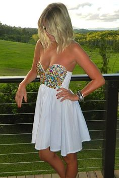Fairy Bead Dress..cute but dont like how low cut it is