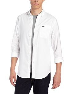 Men's That'll Do Long-Sleeve Oxford Shirt - White - Clothing, Shirts, Casual Button-Down Shirts Button-Down Shirts White Shirt Outfits, Mens Clothing Styles, Men's Clothing, Oxford White, Fashion Shirts, Mens Fashion, Casual Button Down Shirts, Fashion Brands, Chef Jackets