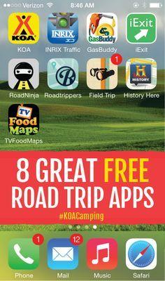 8 Great Free Roadtrip Apps
