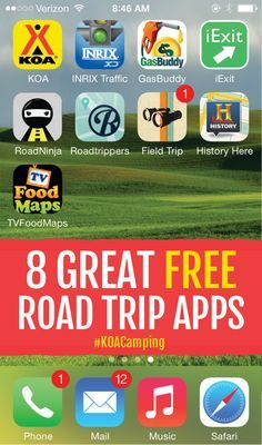 8 Great Free Road Trip Apps #KOACamping