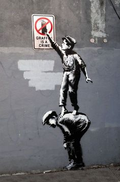 """Details about Banksy - """"Graffiti is a Canvas Print Urban Graffiti - """"The art world is the biggest joke,"""" he said. Banksy lives and works in the United Kingdom. Banksy Graffiti, Arte Banksy, Street Art Banksy, Bansky, Banksy Canvas, Is Graffiti Art, Banksy Prints, Stencil Graffiti, Stencil Art"""