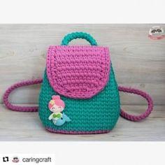 Crochet Handbags, Crochet Purses, Crochet Girls, Cute Crochet, Crochet Backpack Pattern, Yarn Bag, Cute Handbags, Girls Bags, T Shirt Yarn
